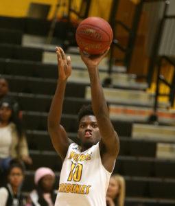 Malik Colvin-Seldon scored 21 points on 8 of 12 shooting. (Photo courtesy of Monroe CC Athletics)