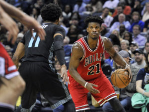 Jimmy Butler (21) finished with 16 points, eight rebounds, six assists, and three steals. (Photo: Justin Ford-USA TODAY Sports)