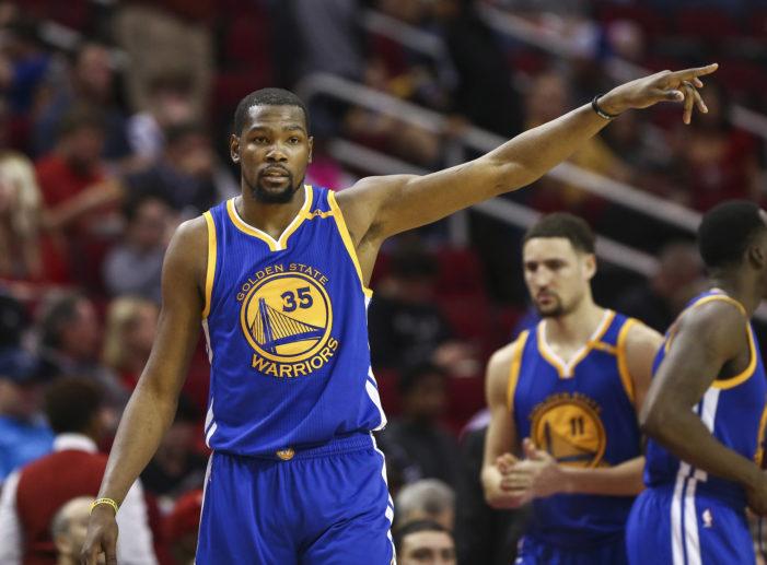 Durant, Warriors win sixth straight