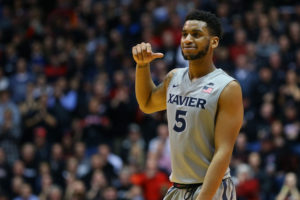 Trevon Bluiett (5) Bluiett averaged 30.5 points, 7.0 rebounds, 1.0 assists and 1.0 steals in Xavier's two games this past week, while shooting 70.4 percent (19-of-27) from the field, including 70.6 percent (12-of-17) from 3-point range. (Photo: Aaron Doster-USA TODAY Sports)
