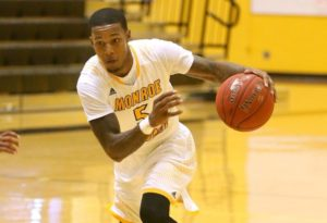 Omar Wiliams scored nine points and handed out four assists in the win. (Photo courtesy of Monroe CC Athletics)
