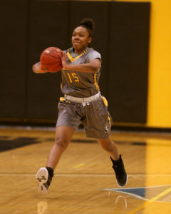 Sierra Green finished with game highs of 19 points and seven rebounds. (Photo courtesy of Monroe CC Athletics)