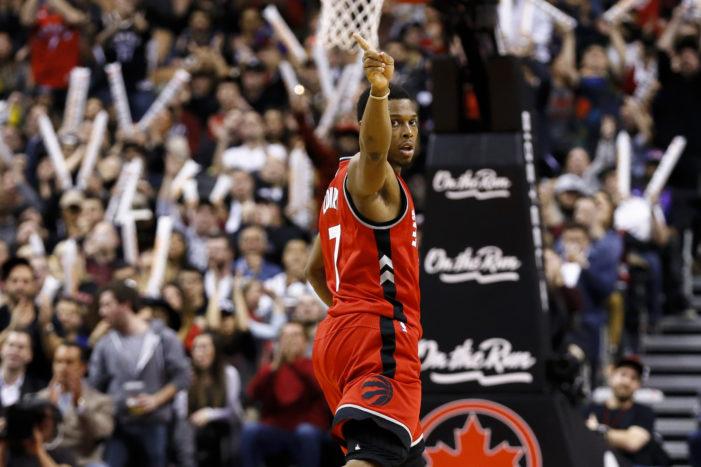 Lowry leads Raptors in OT