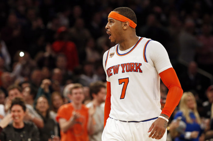 NBA Roundup: Melo passes Barkley; Pistons overcome 16-point deficit