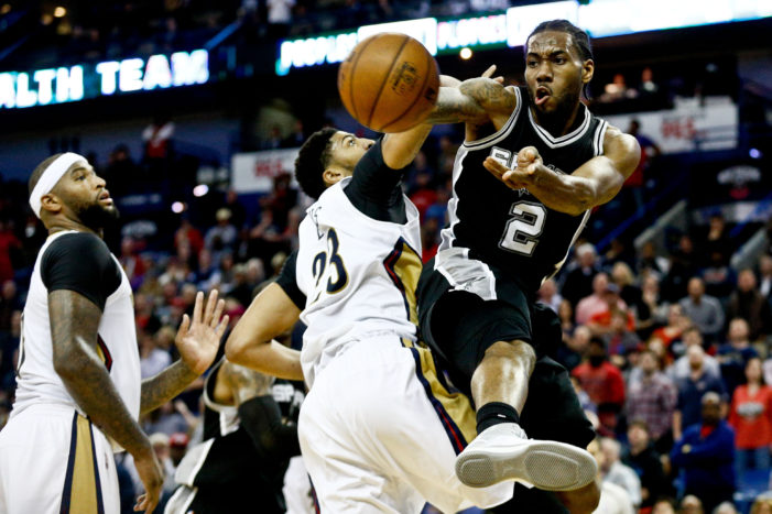 Spurs hold off Pelicans in overtime