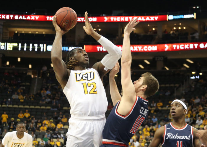 VCU takes five-point lead into halftime at Atlantic 10 semifinal