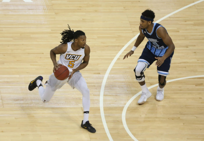 Rhode Island races to double-digit  advantage at halftime of A-10 championship