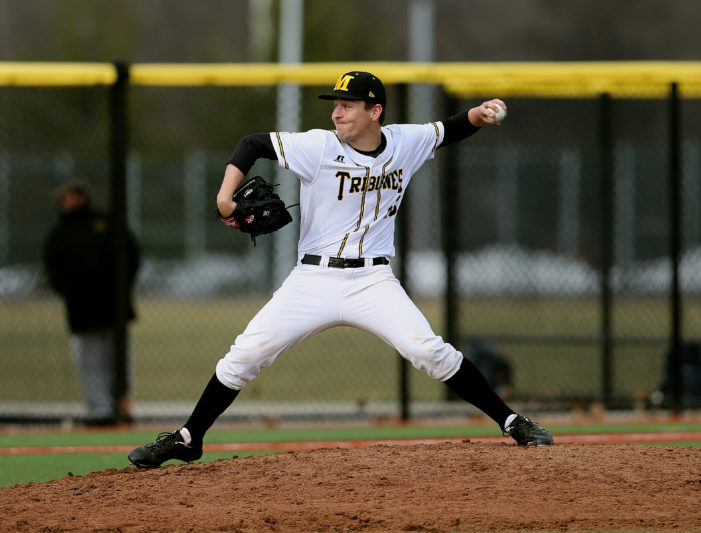 Clarke hurls gem; Tribunes split with Erie CC