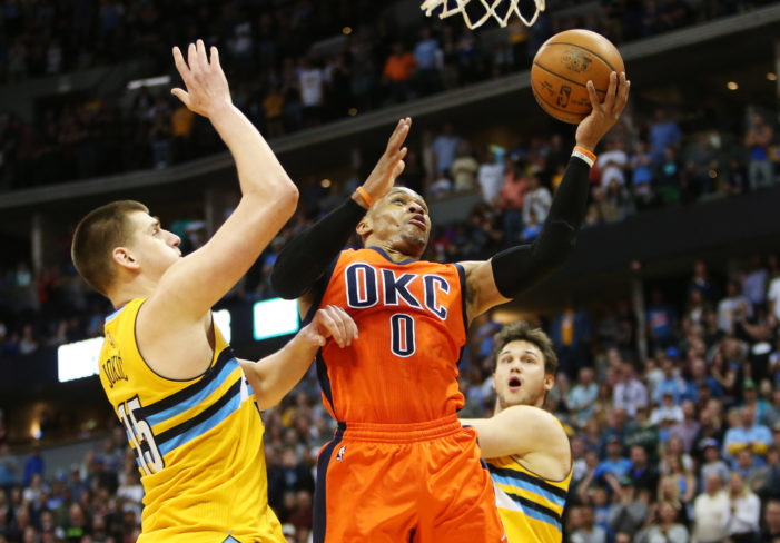 NBA Roundup: Westbrook makes history. Hawks come all the way back, and Russell beats the buzzer.