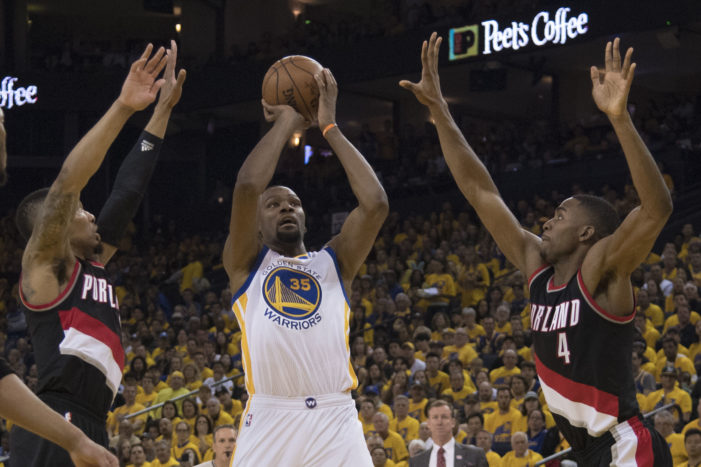 NBA Playoffs: Wall torches Hawks, Warriors pull away in 4th, Bulls upset Celtics, and the Rockets blow past OKC