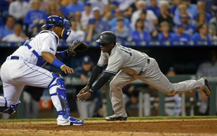 MLB Roundup: Yankees hold off KC; D-Backs sweep the Mets and Dodgers avoid sweep.