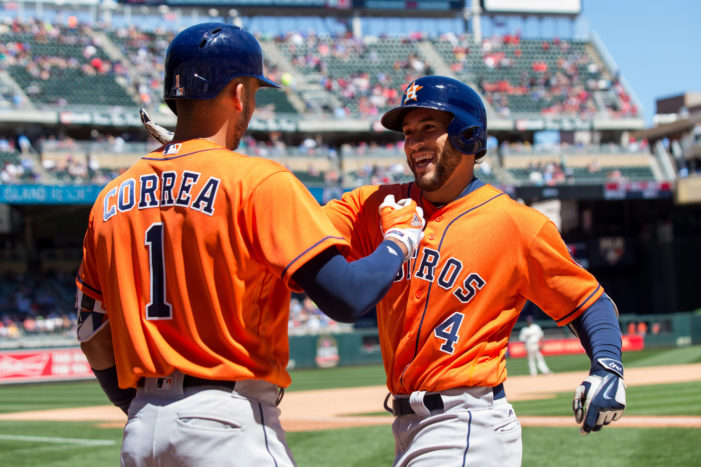 Five Astros go yard; Miami gets its first sweep of the year, and Blue Jays sweep Reds
