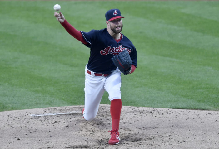 Kluber strikes out 10 in loss for Indians