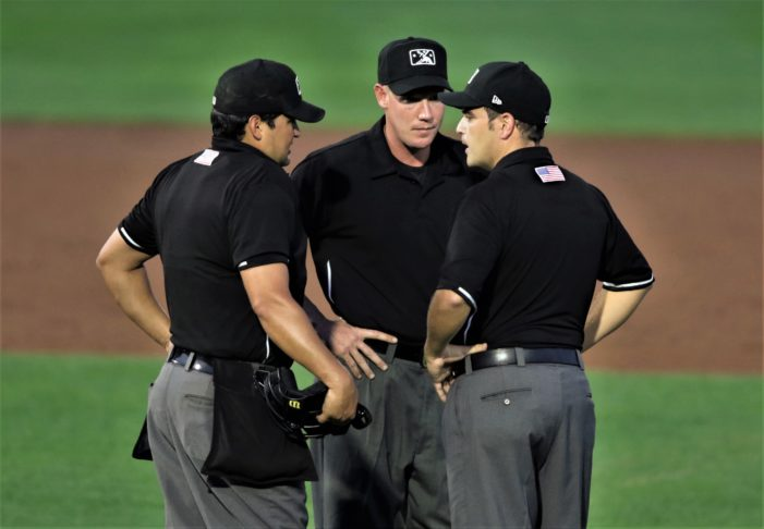 A tough night for the umpires