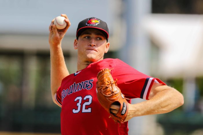Slegers pitches Wings to third straight victory