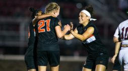 White scores two second half goals as RIT women's soccer rallies to beat St. John Fisher