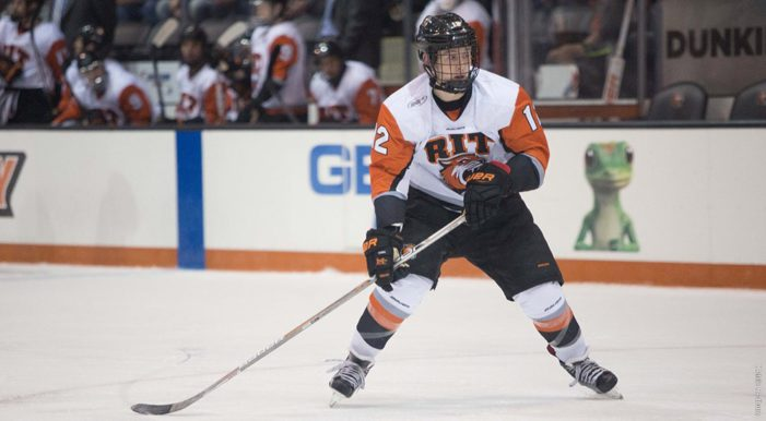 Kruper's third period goal lifts RIT men's hockey to 3-2 win at Air Force