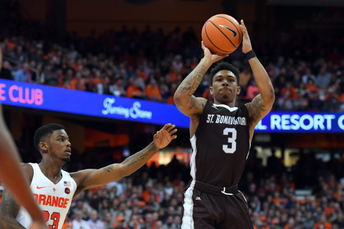 St. Bonaventure's Adams named Atlantic 10 Co-Player of the Week
