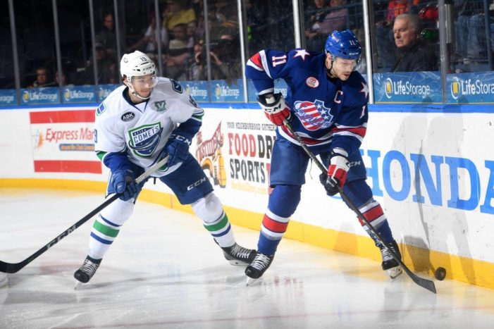 Amerks erase three-goal deficit, fall in overtime to Checkers