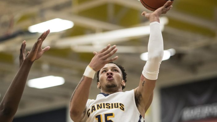 Sanks lifts Canisius with late three