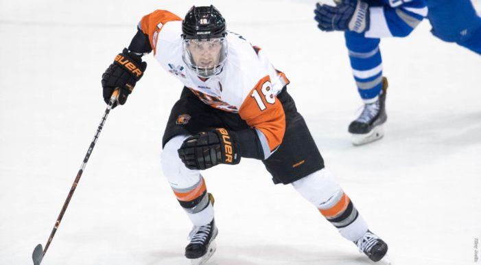 RIT's Matt Abt earns third Atlantic Hockey Defensive Player of the Week honor of 2017-18