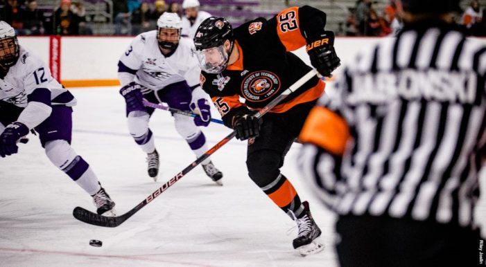 Peacock's late goal lifts RIT to crucial road win at Holy Cross