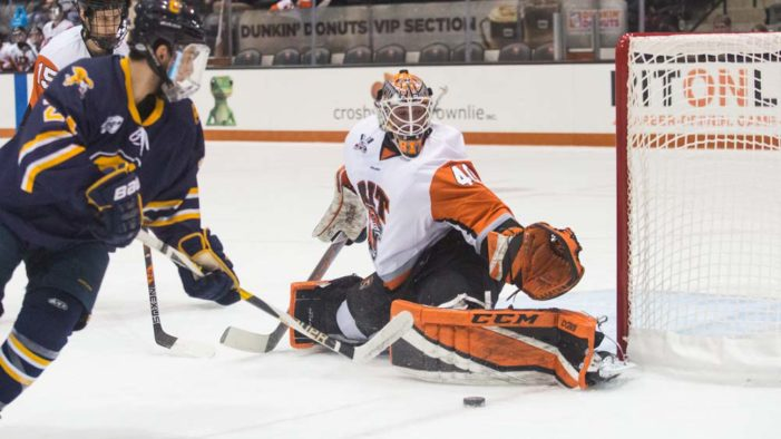 RIT men's hockey suffers shutout loss at Atlantic Hockey leader Holy Cross