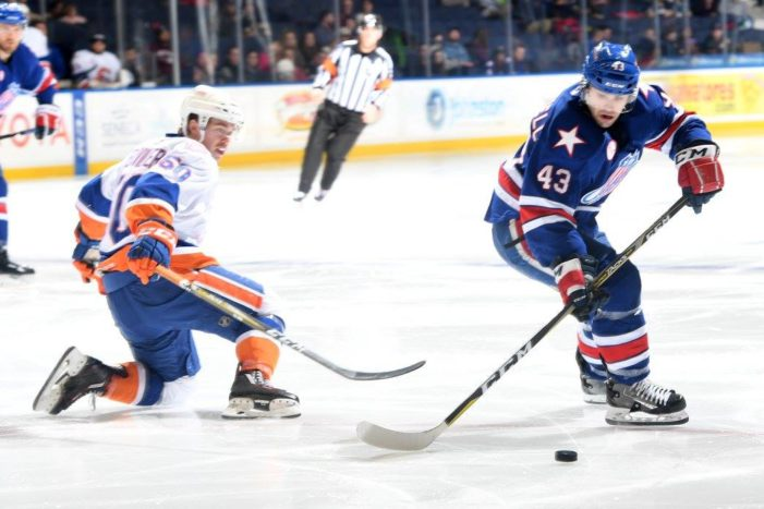 Amerks' Blackwell suspended for big check on Friday