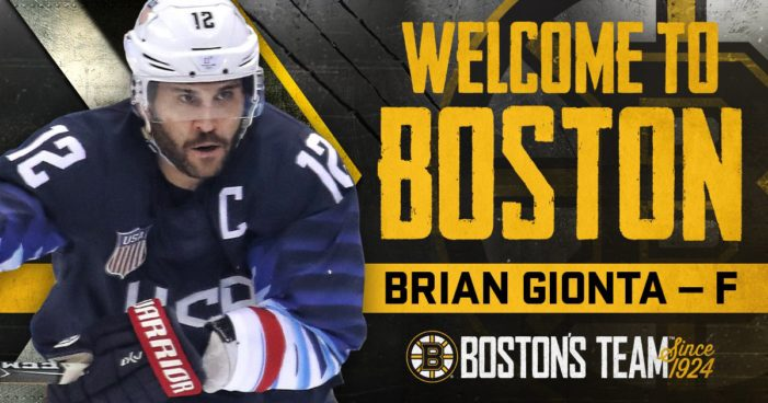 It's now official: Gionta joins Bruins