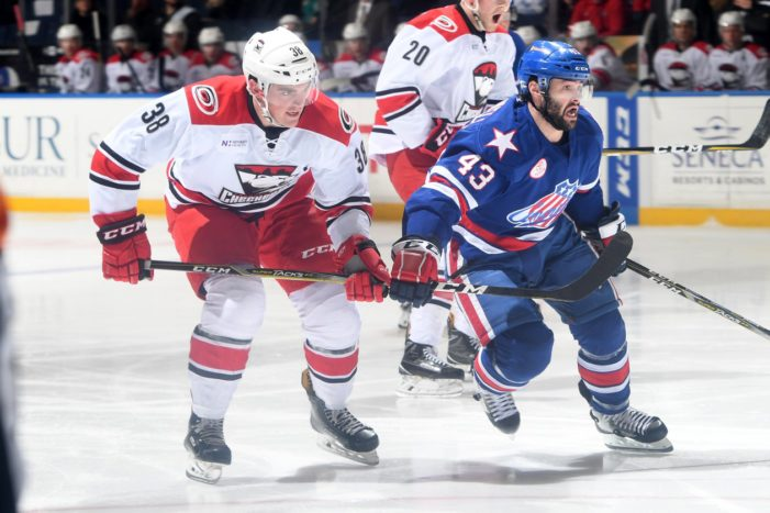 Blackwell sparks Amerks to OT victory
