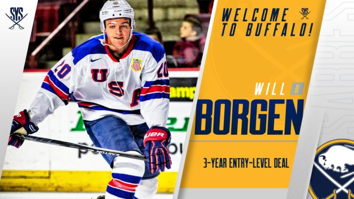 Borgen signed to entry-level contract