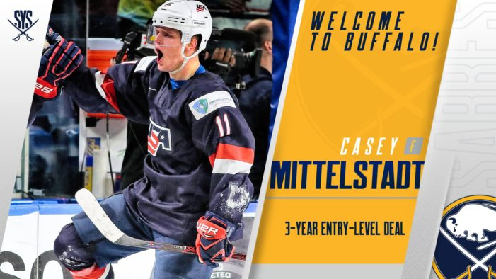 Sabres, Mittelstadt agree to entry-level deal