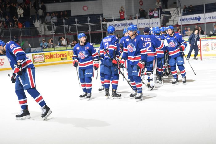 Crunch hold off Amerks for 6-5 win in game two