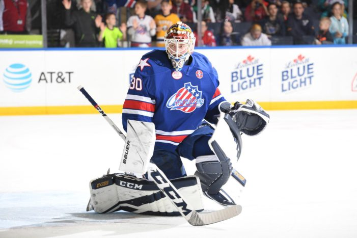 Ullmark after bitter end to Amerks season: 'I didn't make any saves'