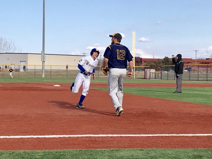 Baxter and Schroeder walk off in extras