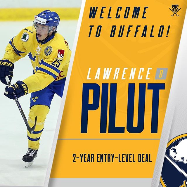 Sabres, Pilut agree to entry-level deal