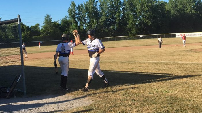 Big middle innings send Greece Post to the playoffs with a 13-4 win