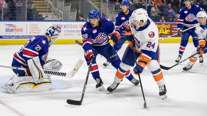 Olofsson lifts Amerks in final minute