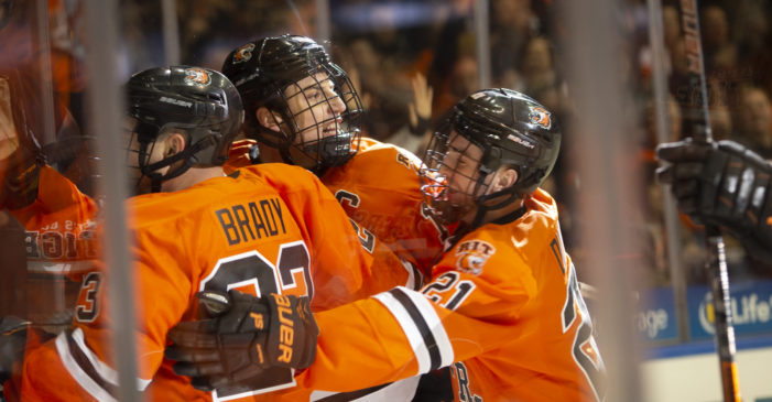 RIT men's hockey heads to Boston to take on No. 13 Northeastern, Saturday