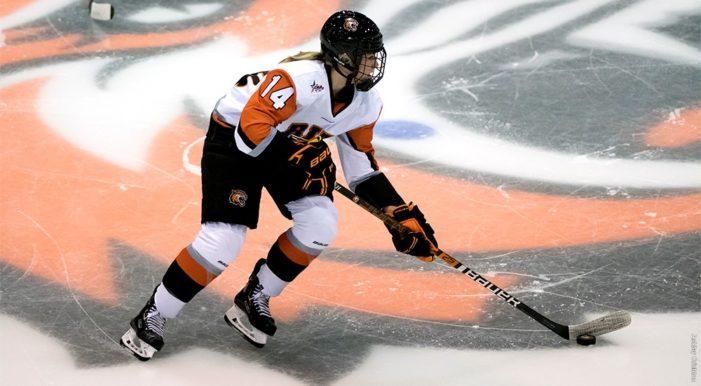 RIT women's hockey skates to 1-1 tie against Holy Cross