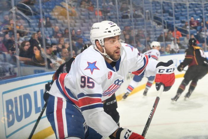 Bailey scores twice, but Amerks fall in overtime to Bruins