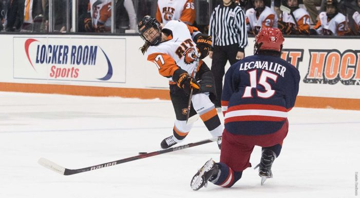 RIT Women's hockey falls to Robert Morris in College Hockey America opener