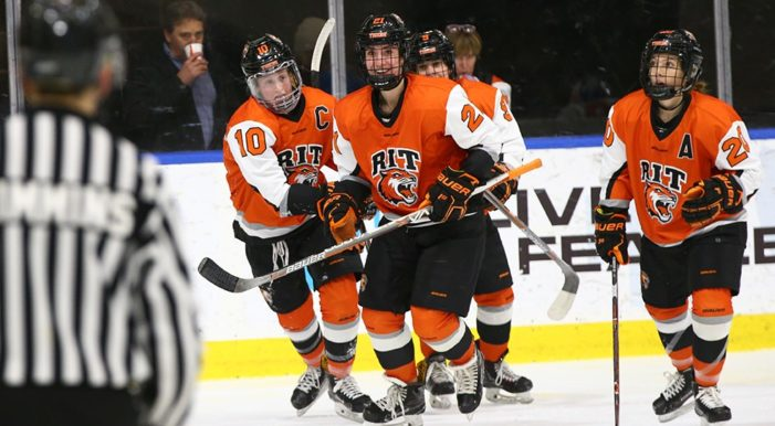 RIT men's hockey explodes for season-high eight goals in win over Niagara