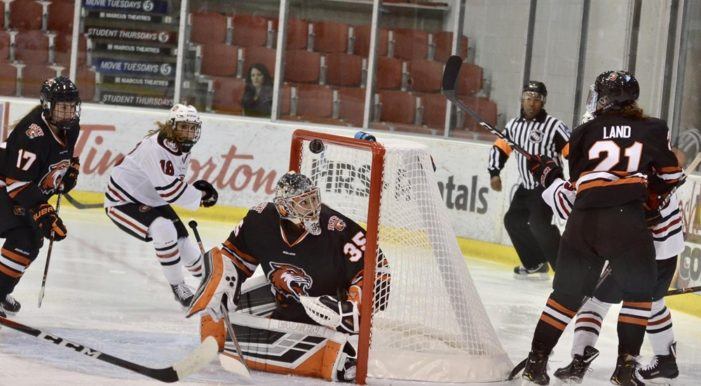RIT women's hockey rallies late to stun Syracuse
