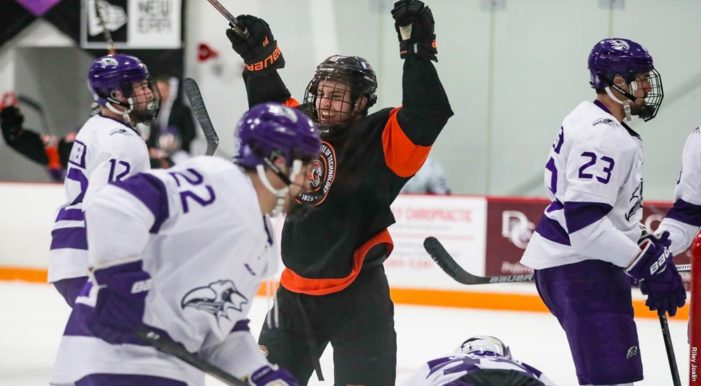RIT men's hockey scores late goal to earn 4-4 tie at Niagara