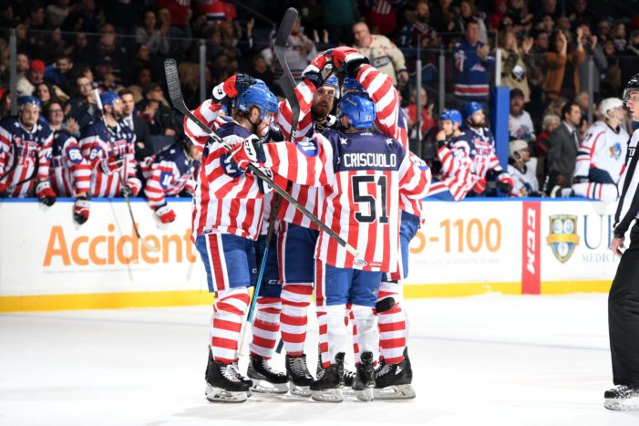 Olofsson's hat trick powers Amerks past Springfield