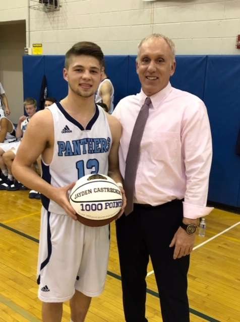 Jayden Castrechini reaches 1,000 points in Gananda win