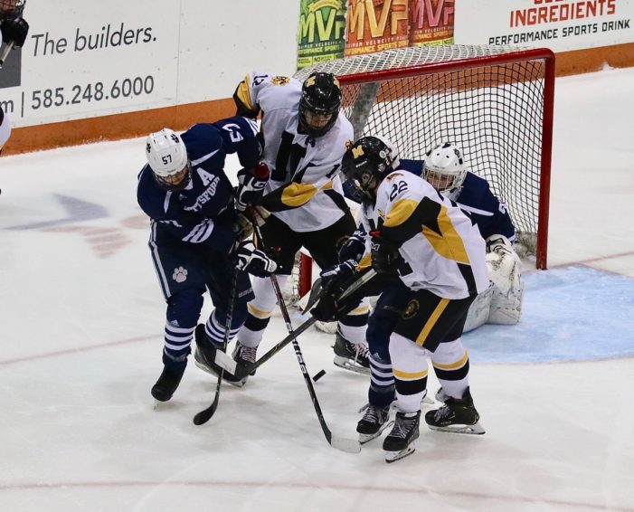 Pittsford upends top-seeded McQuaid in hockey semifinals