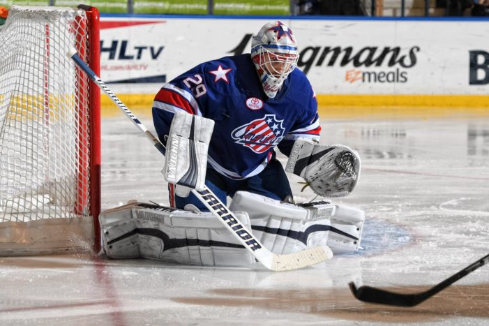 Another shutout for Wedgewood and the Amerks