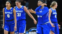UB women upset Rutgers 82-71, advance to second round of NCAA Tournament